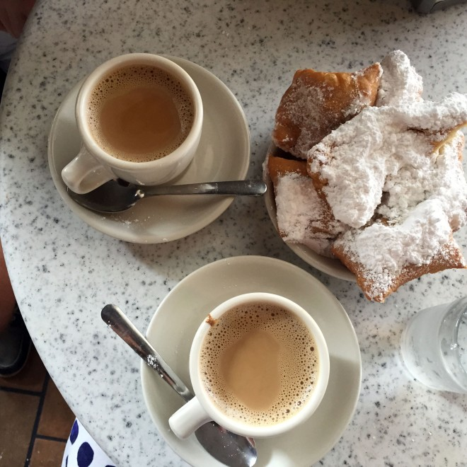 I'll have another plate of beignets, please.