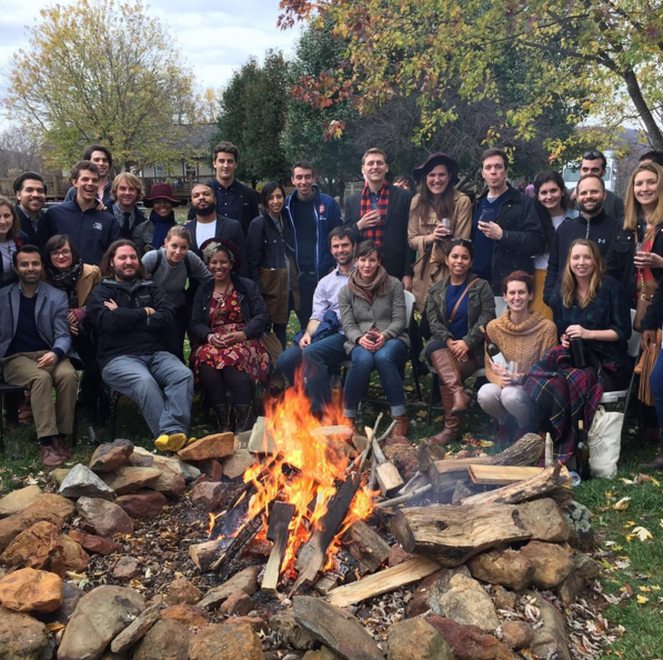 The iStrategy Labs team + their partners at Rappahannock Cellars.